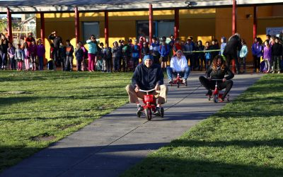 Teacher Tricycle Race