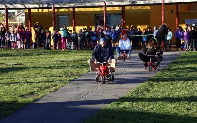 Teacher Tricycle Race